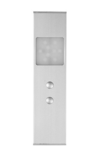 Masoanic Metallaluminium LED Möbel vertiefte Lichter mit Bewegungs-Sensor 2 W,135lm, Lichtstrahl für Wandschrank, Kabinett (weiß, 1 Satz) (Streifen-bett-satz)