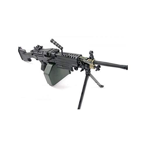 A & K Airsoft Schweres Maschinengewehr M249 MK2 Marine Full Metal Farbe Schwarz (0,5 Joule) (Airsoft M249)