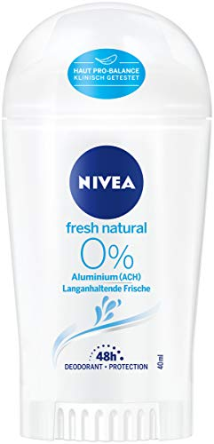 NIVEA Fresh Natural Deo Stift (40 ml), Deo Stick ohne Aluminium (ACH) mit frischem Blumenduft, Deodorant mit 48h Schutz pflegt die Haut