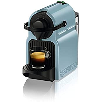 nespresso inissia by krups coffee capsule machine blue kitchen home. Black Bedroom Furniture Sets. Home Design Ideas