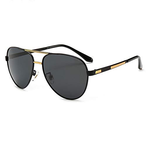 Unisex Sport-Sonnenbrille for Männer Classic Polarized Driving Sunglasses, (Farbe : Black Gold Frame/Black)