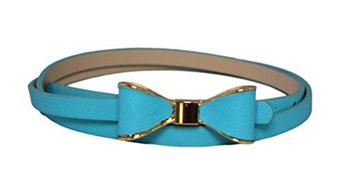Sucre Belts Damen Gürtel türkis türkis Bow Skinny Belt