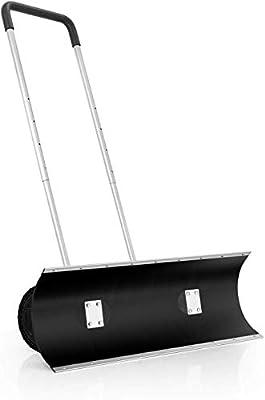 ORIENTOOLS Schneeschaufel, strapazierfähig, rollbar, verstellbar, mit 24,13 cm Rädern, effiziente große Schneepflüge, geeignet für Auffahrten oder Straßenreinigung (96,52 cm Klinge)
