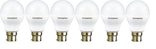 Crompton 7WDF 7-Watt B22 Base LED Bulb (Pack of 6, Cool Day...