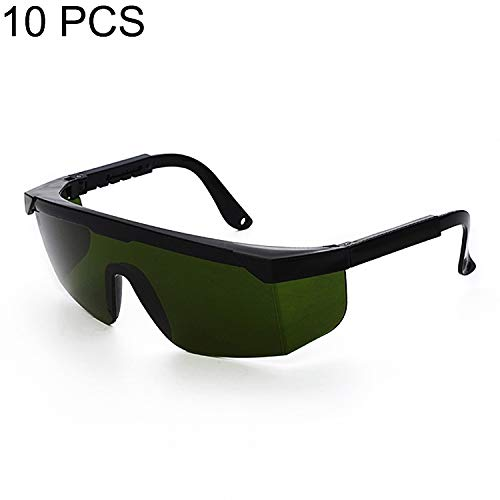 Songlin@yuan Laser-Schutzbrille, 10 Stück, klar, dunkelgrün