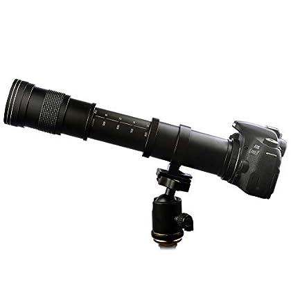 lightdow 420–800mm f/8,3–16Súper Teleobjetivo + lente de zoom manual T-Montaje para Canon EOS DSLR