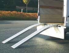 Northwood de sécurité Paire de rampes en aluminium courbées, jusqu'à 400kg, 2m