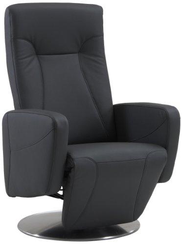 Sino-Living SE-814 Relax- und Ruhesessel in Dickleder, grau mit manueller Verstellung