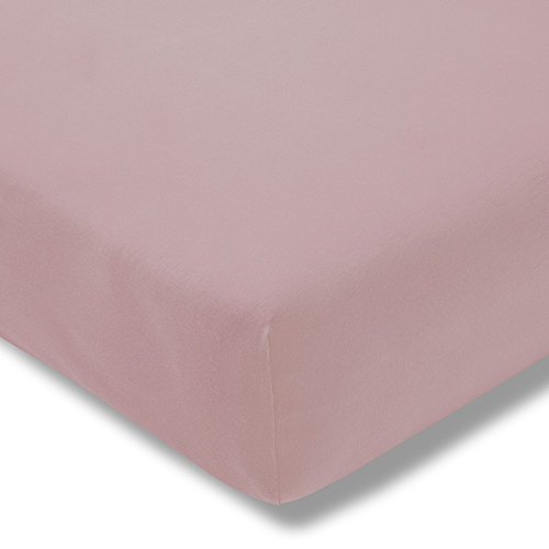 Estella Mako Zwirn Jersey exquisit Spannbettlaken 150x200 in rosa