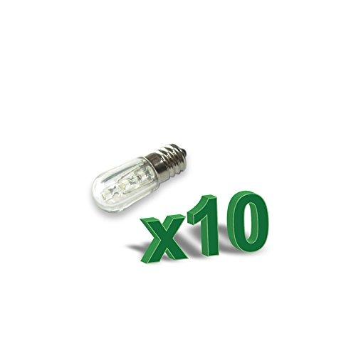 PuntoEnergia Italia - 10 x lámpara SET votiva 0.4 W 12V LED Ambar - LED04-12Ax10