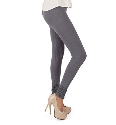 \'V\' Cut Women Leggings \'Cotton\' Lycra \'Churidar\'(GREY)By BARBIS