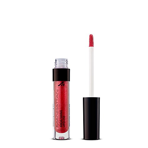 Manhattan High Shine Lipgloss, Glänzender Lipgloss für intensiv schimmerndes Finish auf den Lippen, Farbe 45T, 1 x 3ml -