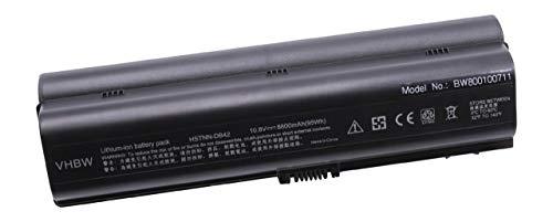 vhbw Batterie LI-ION 8800mAh 10.8V Noir Compatible pour HP Pavillion DV6010 etc. remplace HSTNN-LB31, HSTNN-DB31, HSTNN-DB32, HSTNN-IB31, HSTNN-IB32