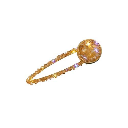 Darringls Frauen Mode Haarspange Damen, Kopfbedeckung Zubehör Modetrend Süßer Mehrfarben Kies Diamant Haarnadel Damen Schmuck Kopfbedeckung (D, Free)