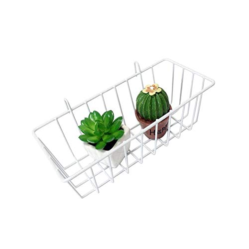 Grid Wall - Grid Hanging Basket Iron Wall Mounted Decoration Innovative Flower Pot Shelf Small Items Display - Essentials Knitting Lidded Vintage Xlarge Dinosaurs Duty Girls Living Girl Natural W - Vanity Basket Liner
