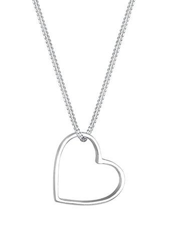 Elli Damen Halskette Kette Anhänger Herz 925 Sterling Silber