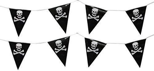 10m Piraten Fahnentuch Party Flagge Pvc Banner Schädel & Knochen Party Thema Dekoration