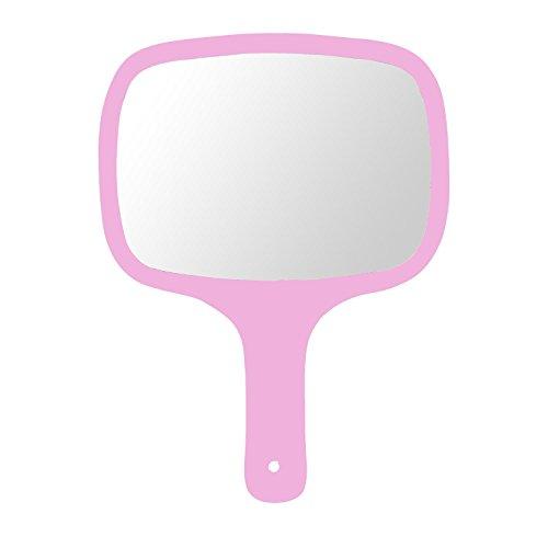 Mirrorl wban specchio a mano da donna e signore parrucchiere professionale con manico in legno   (2018model), # 36