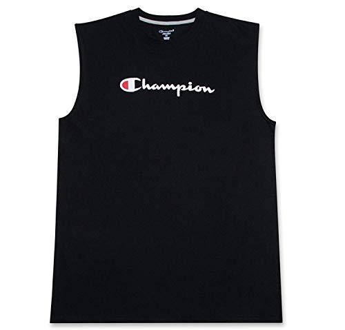 Champion Jersey Muskel-T-Shirt mit Schriftzug-Logo für Herren XL Hoch schwarz -