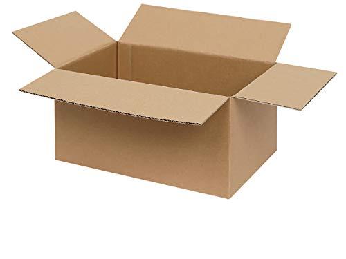 Preisvergleich Produktbild 100 braune Faltkartons 300 x 200 x 200 mm / Versandkartons / Faltschachteln / Kartons zum Paketversand mit DHL,  DPD,  GLS und Hermes