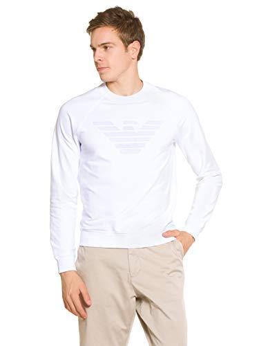 Emporio Armani Herren Sweatshirt Weiß EU L (UK 40) 3Z1M681J04Z0100
