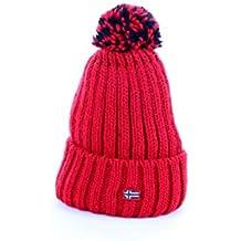 Napapijri - Gorro - para Mujer Rojo Rojo Talla única fc578a960b1