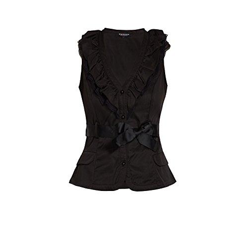 Morgan - Blouse - Uni - Sans manche - Femme Noir (Noir/Noir)