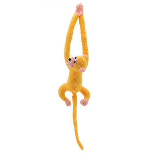 60 cm Kawaii langer Arm Schwanz Affe gefüllt Puppe Plüsch Vorhänge Baby Schlafend Tier Spielzeug Auto Dekoration Valentinstag Geschenk 60cm/23.62in gelb - Baby Simulator