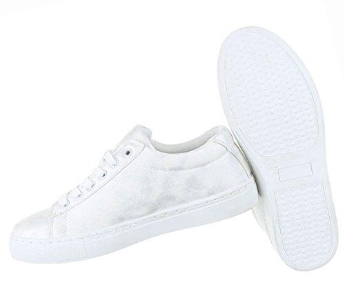 Damen Schuhe Freizeitschuhe Used Optik Sneakers Turnschuhe Schwarz Weiß