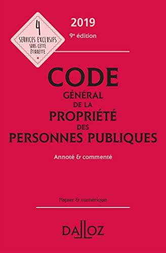 Code général de la propriété des personnes publiques 2019 annoté et commenté - 9e éd. par Michel Pédamon