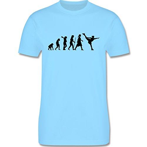 Evolution - Eisläuferin Evolution - Herren Premium T-Shirt Hellblau