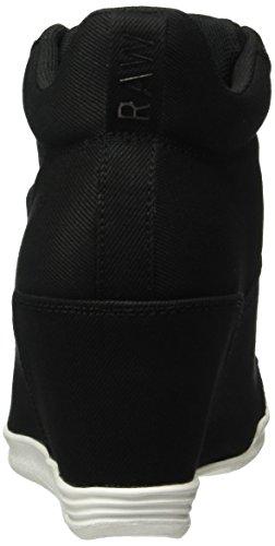 G-STAR RAW Damen Labour Wedge High-Top Schwarz (Black 990)