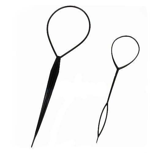 Haar Twister (BONAMART 2pcs Haar Tail Twister Inhaber Frisurenhilfe Band Schwarz Dutt Styler Haartwister)