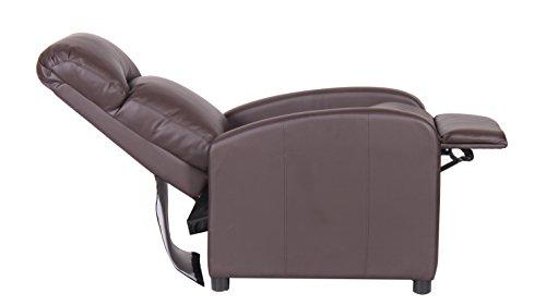 Poltrona reclinabile relax con poggiapiedi eco pelle imbottita