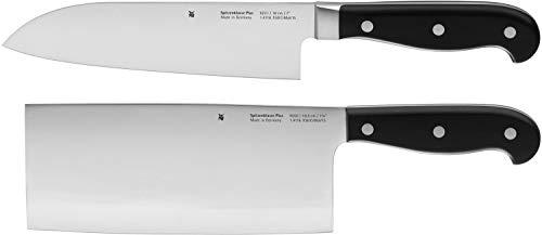 WMF Spitzenklasse Plus Asia Messerset 2-teilig, 2 Messer Küchenmesser geschmiedet Performance Cut Kochmesser Santokumesser