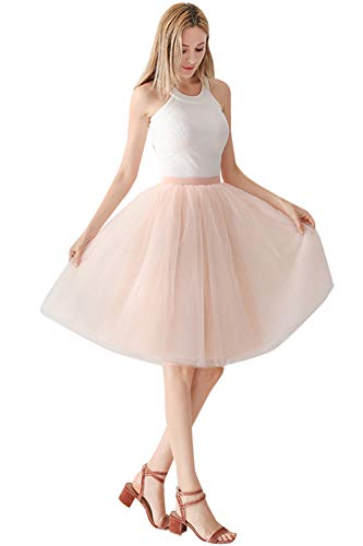 Babyonlinedress® Damenrock Tüllrock 50er Rockabilly Petticoat Tutu Unterrock Weinachten Karneval Kostüm Partykleid Unterkleid