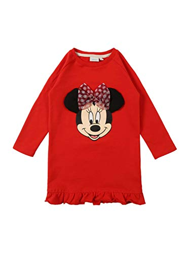 n NMFMINNIE Annie SWE BRU Dress WDI Kleid, Rot Poppy Red, (Herstellergröße: 92) ()