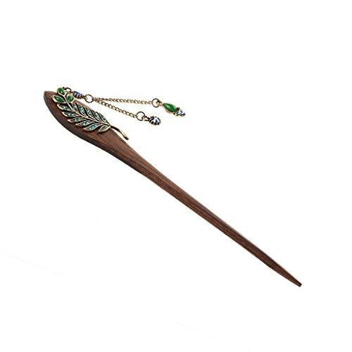 Frauen elegant wirkende antike Messing- Metall-Dekor Haar Stick-Pin mit Quaste für lange Haare – Haarschmuck Haarnadel Haar-Stick Haarspange Haarstift