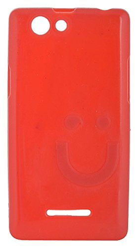 iCandy™ Imported Quality Soft TPU Smiley Back Cover For Xolo A500S - Red  available at amazon for Rs.165
