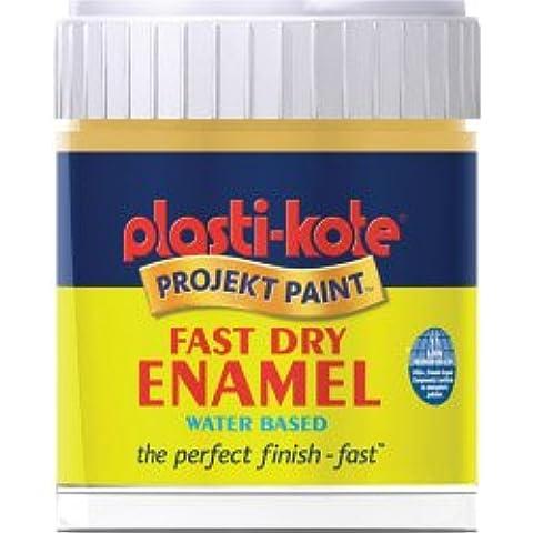 Plasti-kote Dry Fast esmalte Cepillo En Botella 59ml antiguo del oro