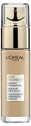 Dore Gesicht (L'Oréal Paris Age Perfect Feuchtigkeitsspendendes Make-up in Nr. 150 beige creme, für reife Haut und einen strahlenden Teint, mit LSF 17, 30 ml)