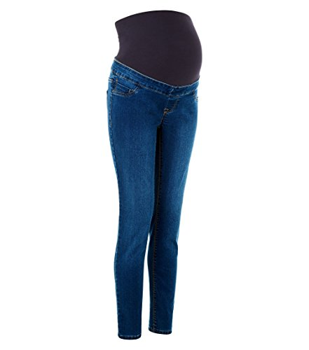 Ladies Ex New Look Maternity Blue Over Bump Jeggings Test