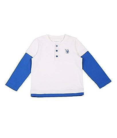 Oceankids Mädchen Runder Kragen Langarmshirt / Kinder T-Shirt Langarm Weiß