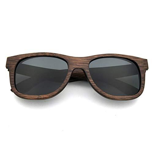 Tclothing Männer Frauen Retro Holz Polarisierte Linse Sonnenbrille UV Schutz Eyewear Leichte Holzrahmen Float Stil Gläser für Reisen Radfahren Angeln