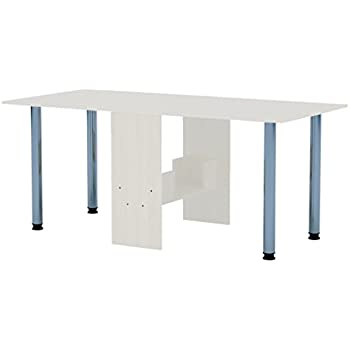 Tisch f/ür kleine R/äume klappbarer Tisch Klapptisch Nussbaum abgerundete Ecken 376