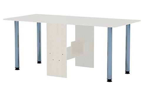 Rodnik Klappbarer Tisch   Klapptisch Weiß Mit Metallbeinen   Küchentisch    Doppelklappentisch   Esstisch   Funktionstisch