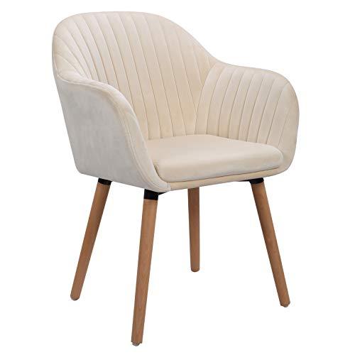 WOLTU 1x Esszimmerstühle Küchenstuhl Polsterstuhl Wohnzimmerstuhl Design Stuhl mit Armle