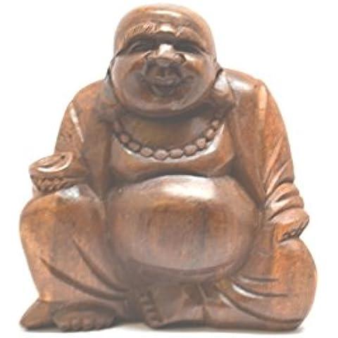 Piccolo in legno intagliato a mano, 10 cm, motivo: Statua