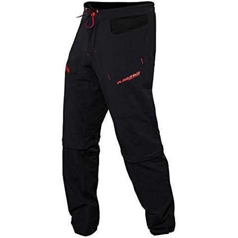 Platzangst - Pantaloni da uomo, Crossflex , con cerniere per rimuovere la parte inferiore, Uomo, Hose Crossflex Zip Off Pants, nero, M