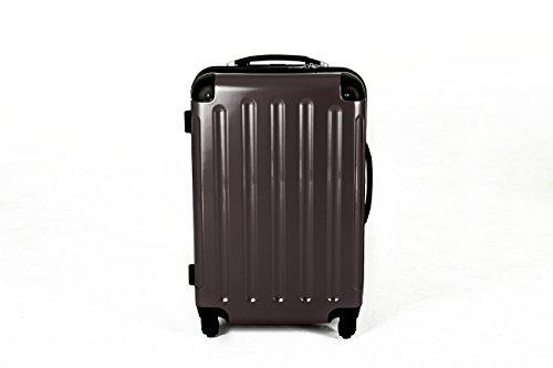 3 teiliges oder Einzeln M L XL Polycarbonat / ABS Trolley Koffer Bordcase Set Hartschale Reisekoffer Kofferset 4 Rollen (M, Anthrazit)